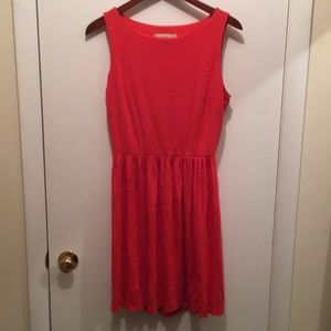 Orange red loft dress